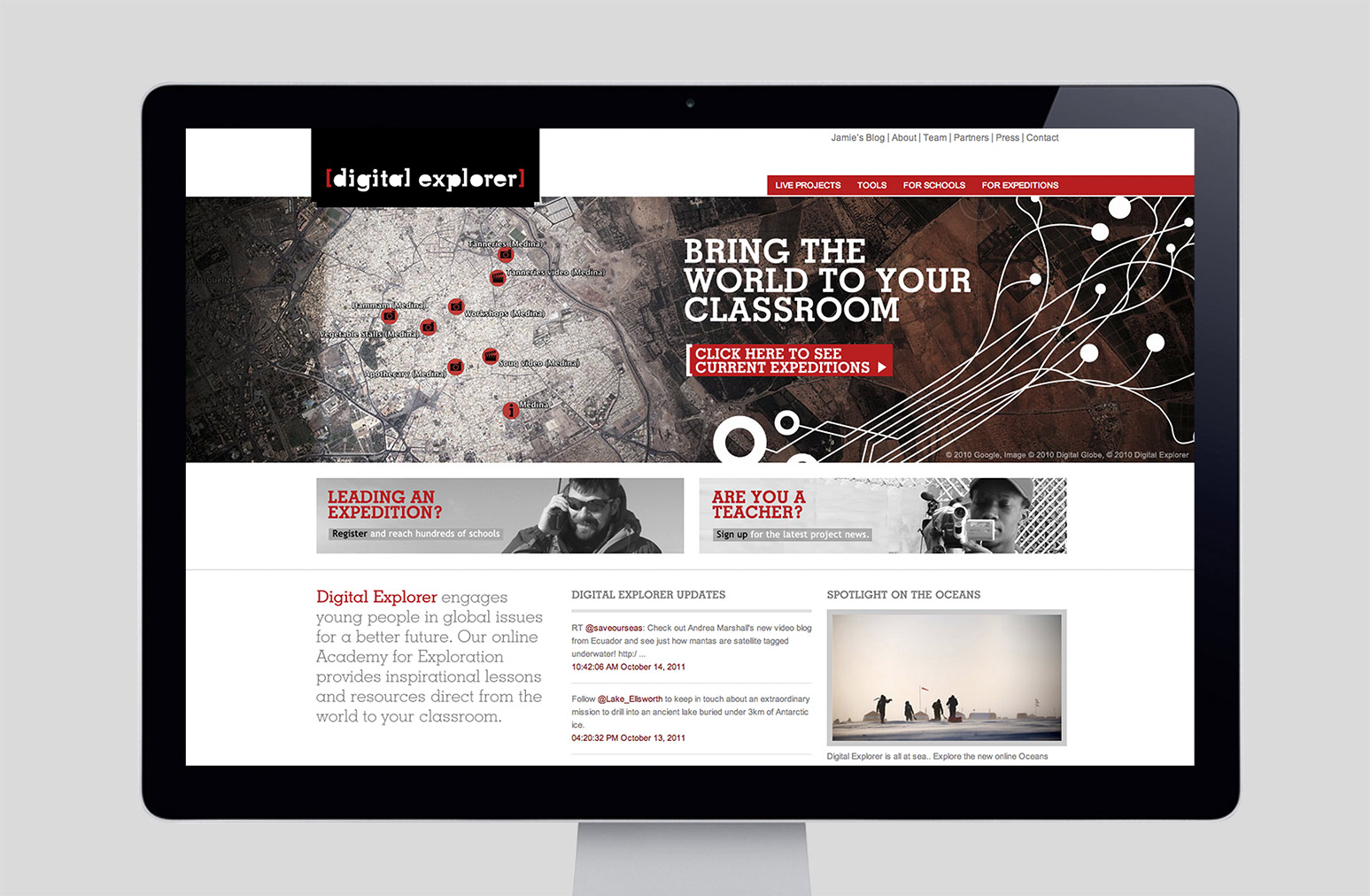 Digital Explorer Website Design One Darnley Road 1