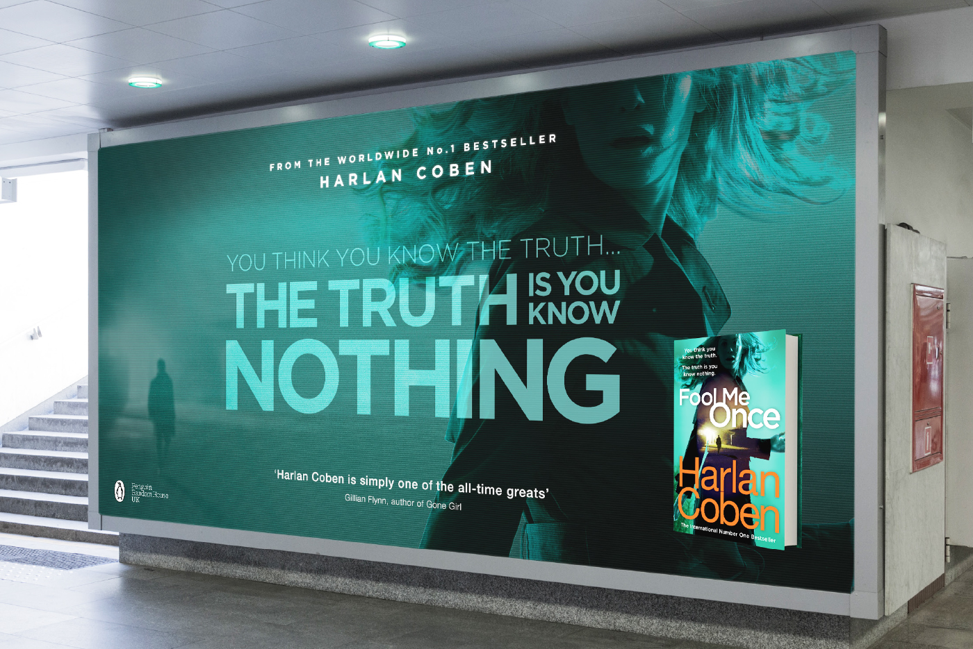Penguin Random House Harlan Coben Fool Me Once Outdoor Advertising Campaign One Darnley Road 1