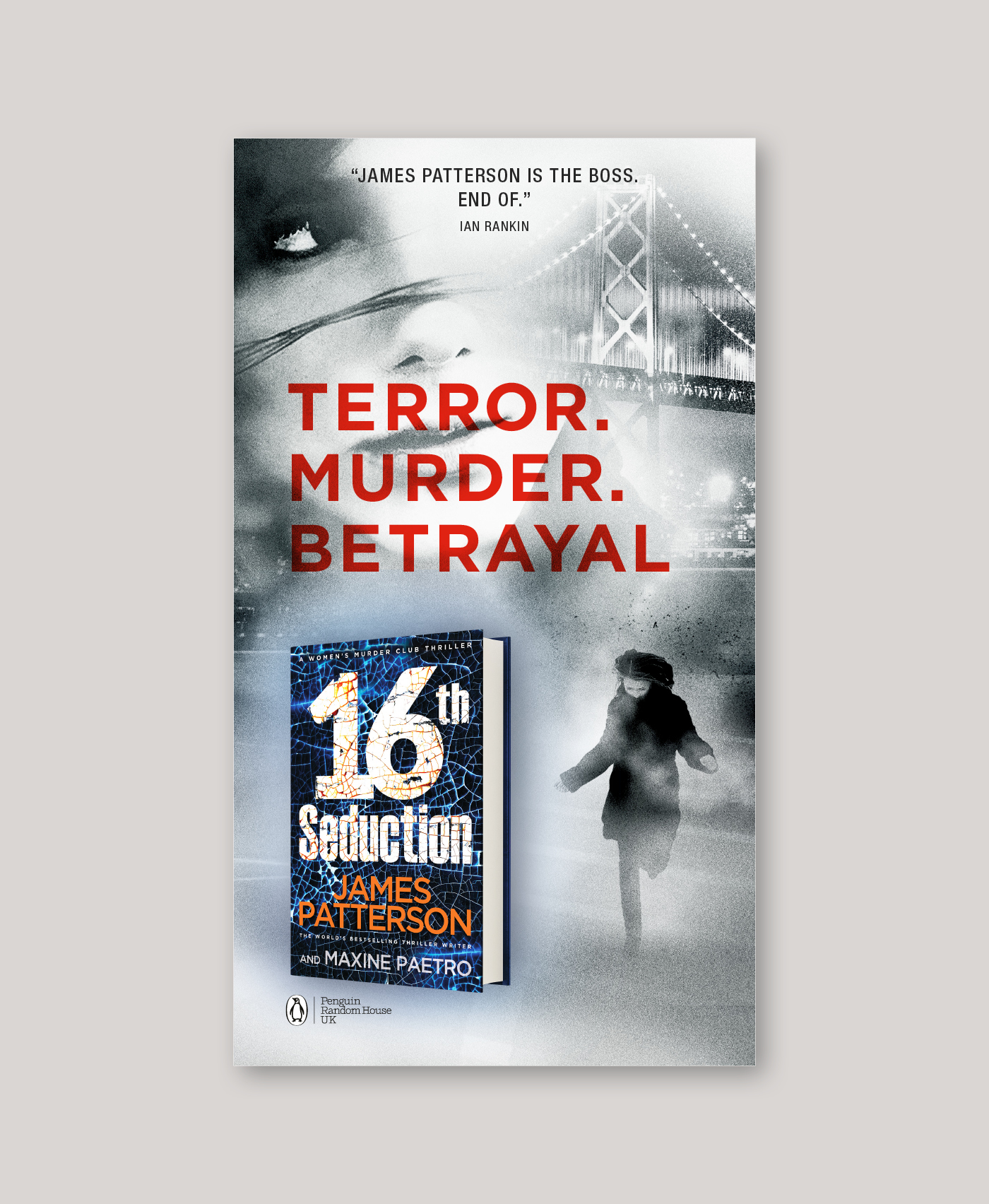 James Patterson Outdoor Advertising Ooh 16Th Seduction Penguin Random House Underground Tube Advertising 01