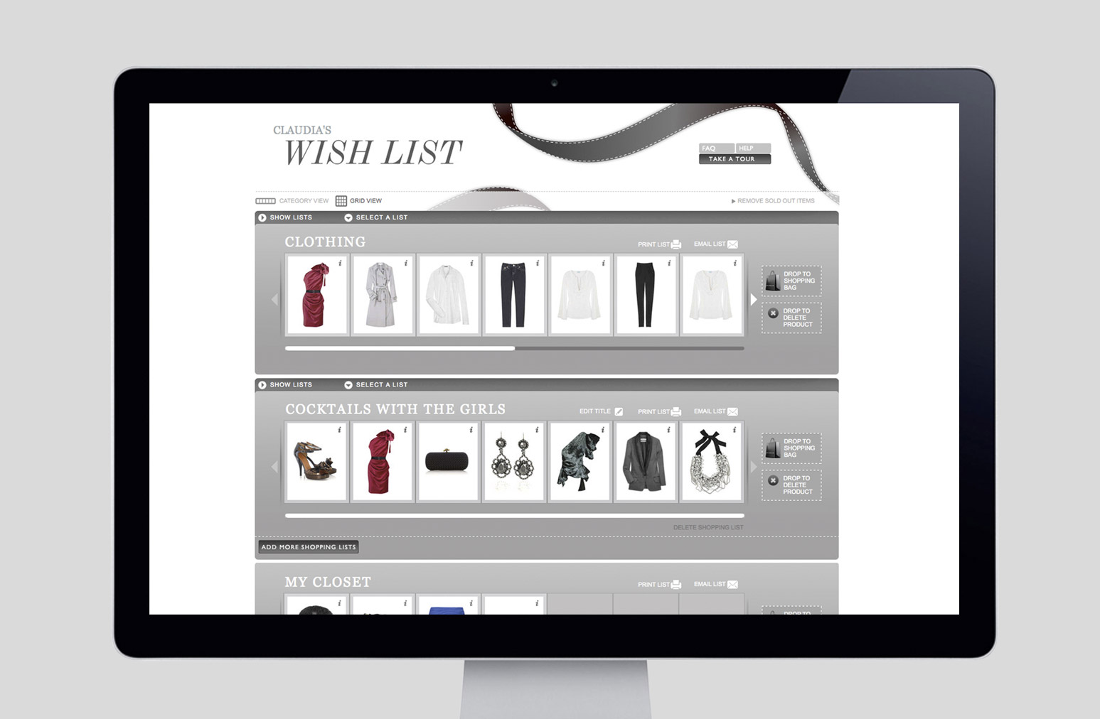 Net A Porter Wish List Website One Darnley Road