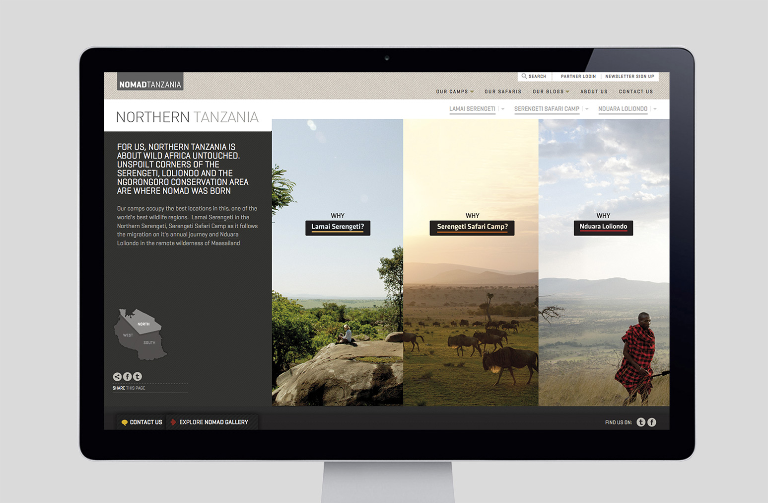 Nomad Tanzania Website Design One Darnley Road 1