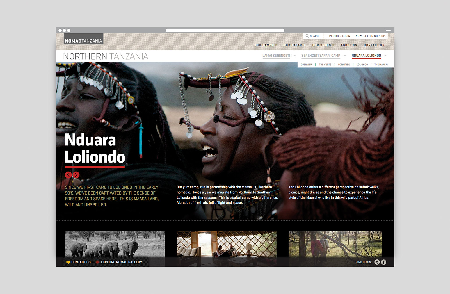 Nomad Tanzania Website Design One Darnley Road 5